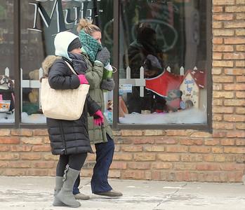 Dressing warmly in La Grange