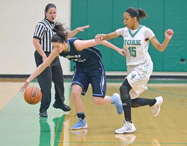Downers Grove South girls basketball visits York High school in Elmhurst