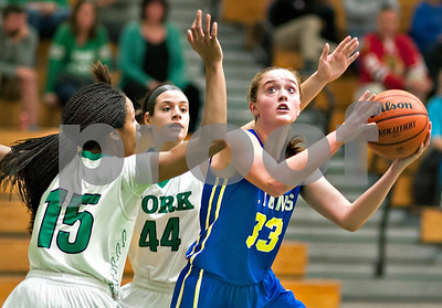 Lyons Township visits Elmhurst for a girls basketball matchup with York