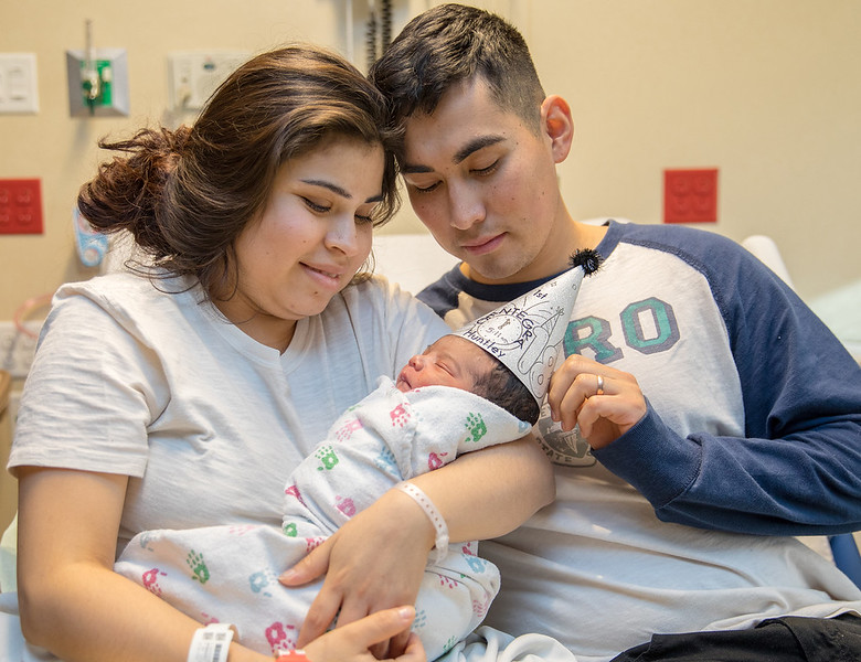 Karla Hernandez Ramos and Eduardo Espino are the pround parents of McHenry County's first newborn of 2018. Weighing 6 pounds 11 ounces, Eduardo Espino was born at 5:11 AM Monday, January 1, 2018 at Centegra Hospital in Huntley. KKoontz- For Shaw Media