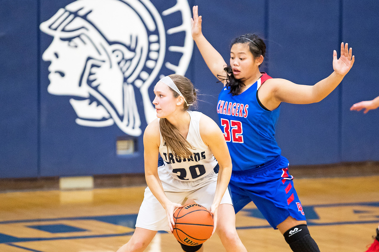 Whitney Rupp for Shaw Media Abby Getka of Cary-Grove looks for an opening while Dundee-Crown's Gianine Boado guards Saturday, Jan. 20.