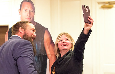 Whitney Rupp for Shaw Media Matt and Elesha Werhane of the Painted Fox in McHenry take a selfie at the annual McHenry Area of Commerce Dinner Dance Jan. 27 in Crystal Lake.