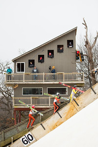 Whitney Rupp for Shaw Media Ski jumpers climb the hill at the Norge Ski Club International Winter Tournament in Fox River Grove Sunday, Jan. 28.
