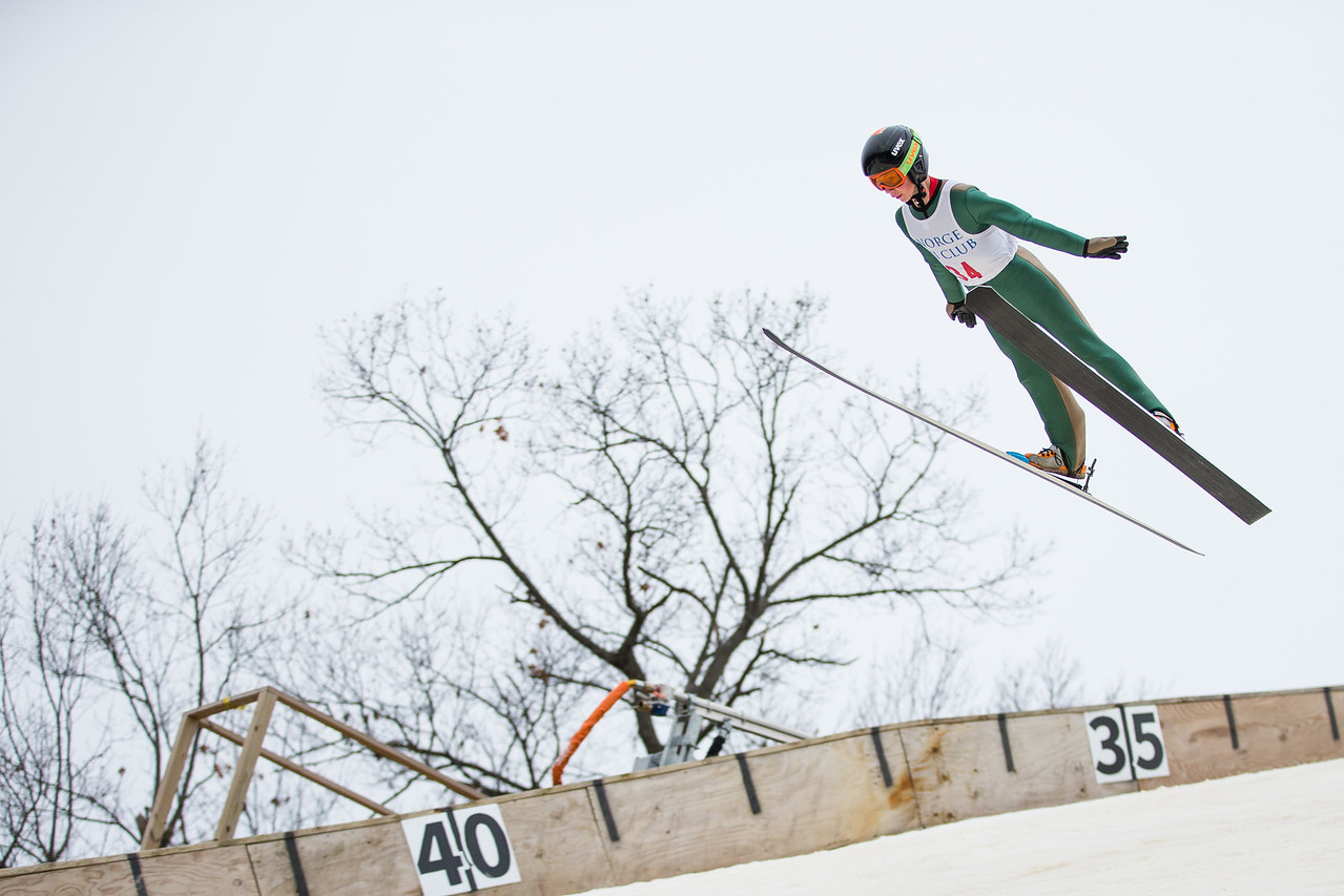 Whitney Rupp for Shaw Media Erik Belshaw soars during the International Winter Tournament at Norge Ski Club in Fox River Grove Sunday, Jan. 28.