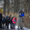 Families gather on Jan. 20 at Hickory Knolls Discovery Center for bird counting in St. Charles.
