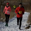 Participants run the trails at the Fox Valley Trail Runners 5K race on Jan. 20 at Hickory Knolls Discovery Center in St. Charles.