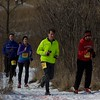 Participants run the trails at the Fox Valley Trail Runners 5K race on Jan 20 at Hickory Knolls Discovery Center in St. Charles.