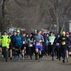 Participants start the Fox Valley Trail Runners 5K race on Jan. 20 at Hickory Knolls Discovery Center in St. Charles.