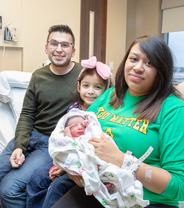 Edrian Luna and Jenny Bennett along with daughter Amber Bennett (7 years-old), welcome the newest member to their family and McHenry County's first baby of 2019. Itzli Maxwell Bennett weighed 6lbs 13ozs and he arrived at 10:05 AM Tuesday, January 1, 2019 at Northwestern Medicine Huntley Hospital in Huntley. KKoontz – For Shaw Media