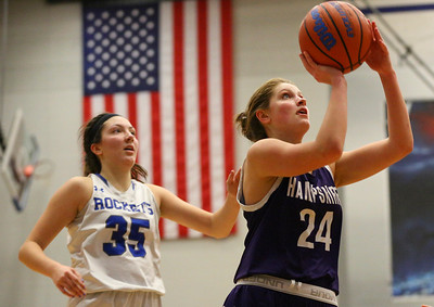 Burlington Central hosts Hampshire girls baksketball