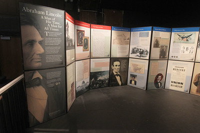 Candace H. Johnson-For Shaw Media A free pop-up exhibit featuring President Abraham Lincoln is on display at the Jack Benny Center for the Arts Theatre in Waukegan. (1/6/19)