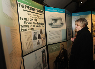 Candace H. Johnson-For Shaw Media Bonnie Dolter, of Gurnee looks at the free pop-up exhibit of President Abraham Lincoln on display at the Jack Benny Center for the Arts Theatre in Waukegan. The exhibit will be on display through January 19th. (1/6/19)