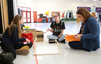 District 47 science olympiad teams practice for regional tournamnents