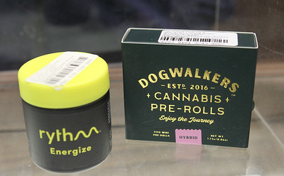 Candace H. Johnson-For Shaw Media Cannabis products made by Rythm and Dogwalkers can be bought at Rise Mundelein on Armour Blvd. in Mundelein.  (1/7/19)
