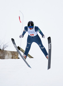 Nejc Toporis of Slovenia finished second in the 70 Meter 5 Hills Class at the Norge Ski Club International Winter Ski Tournament 2020 held on Sunday, January 26, 2020 in Fox River Grove, IL.