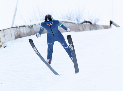 Nejc Toporis of Slovenia flew 80 meters to take home the winning longest standing jump at the Norge Ski Club International Winter Ski Tournament 2020 held on Sunday, January 26, 2020 in Fox River Grove, IL.