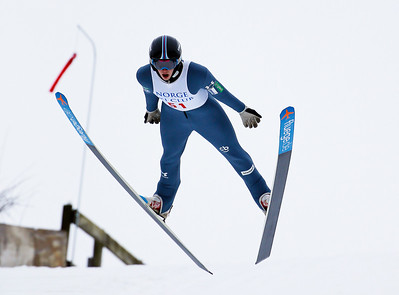 Nik Fabian of Slovenia finished first in the 70 Meter 5 Hills Class at the Norge Ski Club International Winter Ski Tournament 2020 held on Sunday, January 26, 2020 in Fox River Grove, IL.