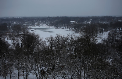The Fox River, in Fox River Grove, Ill., on Sunday, Jan. 31, 2021.