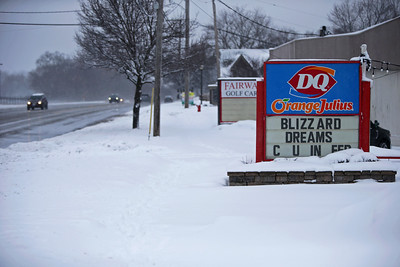 Route 14 in Cary, Ill., on Sunday, Jan. 31, 2021.