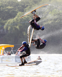 Mike Greene - mgreene@shawmedia.com Members of the Wonder Lake Ski Show Team perform during an Independence Day Show Wednesday, July 4, 2012 at Center Beach in Wonder Lake.