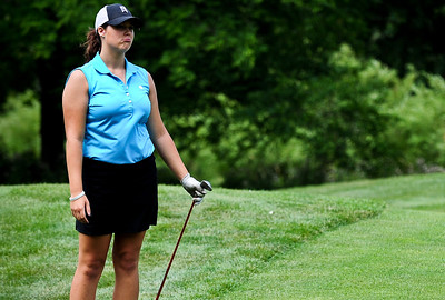 Josh Peckler - Jpeckler@shawmedia.com Danielle Roulo of Crystal Lake makes a disappointing face after making a bad shot during the McHenry County Junior Golf Association's Billy Vahldieck McHenry County Junior Amateur tournament at Boone Creek Golf Club in Bull Valley Tuesday, July 10, 2012.