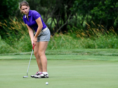 Josh Peckler - Jpeckler@shawmedia.com Samantha Leicht watches her put during the McHenry County Junior Golf Association's Billy Vahldieck McHenry County Junior Amateur tournament at Boone Creek Golf Club in Bull Valley Tuesday, July 10, 2012.
