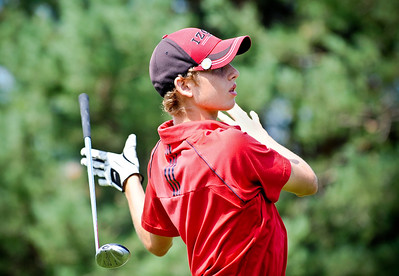 Josh Peckler - Jpeckler@shawmedia.com Brad Spoeth of Huntley drops his club while teeing off from the 11th hole during the McHenry County Junior Golf Association's Billy Vahldieck McHenry County Junior Amateur tournament at Boone Creek Golf Club in Bull Valley Tuesday, July 10, 2012.
