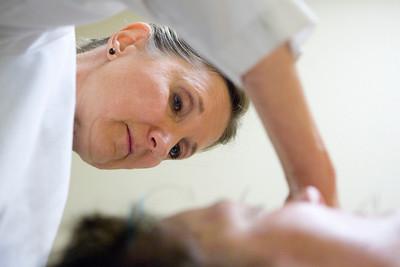Mike Greene - mgreene@shawmedia.com Janine Jozwiak, owner of Nature's Balance Acupuncture, performs a treatment on Brenda Warren, of Woodstock, Tuesday, July 10, 2012 at Nature's Balance Acupuncture in Crystal Lake.