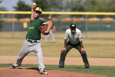 Mike Greene - mgreene@shawmedia.com Crystal Lake South's Tyler Hall pitches during the first round of the Phil Lawler Classic Tournament against Waubonsie Valley Monday, July 16, 2012 in Crystal Lake. Crystal Lake South won the game 9-2, with Hall pitching 6 innings, allowing two runs on four hits.