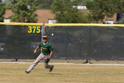 Mike Greene - mgreene@shawmedia.com Crystal Lake South's Jake Bigos makes a play on a hit in the outfield during the first round of the Phil Lawler Classic Tournament against Waubonsie Valley Monday, July 16, 2012 in Crystal Lake. Crystal Lake South won the game 9-2.