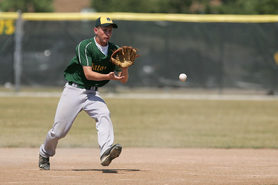 Mike Greene - mgreene@shawmedia.com Crystal Lake South's Garrett Bright watches a ball into his glove during the first round of the Phil Lawler Classic Tournament against Waubonsie Valley Monday, July 16, 2012 in Crystal Lake. Crystal Lake South won the game 9-2.