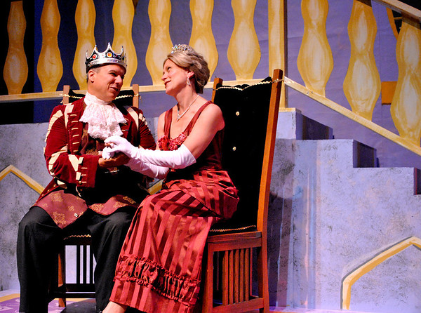 Peter Lopatin (left) and Trisha Mills play the king and queen in Cinderella, the last performance in the 2011-2012 Kaneland Community Fine Arts Festival.