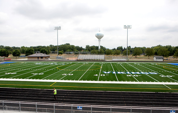 New turf has been installed at Geneva High School's Burgess Field. The Vikings start their season at home Aug. 24.