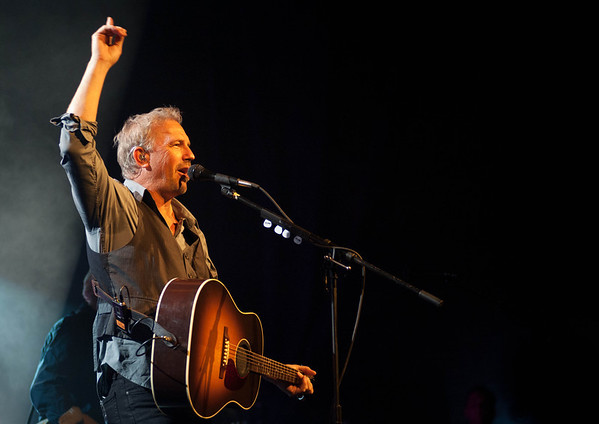 Kevin Costner performs live at the Arcada Theatre in downtown St. Charles Saturday night. Touring since March 2012, Kevin Costner & Modern West play music from their two albums Turn It On and Untold Truths.