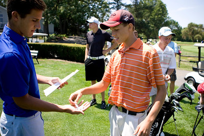 Mike Greene - mgreene@shawmedia.com Brad Spoeth draws a number before the start of a five-way playoff in the senior division at the McHenry County Junior Golf Association's Cary Open Friday, July 20, 2012 in Cary. Spoeth shot a 78 in the round.
