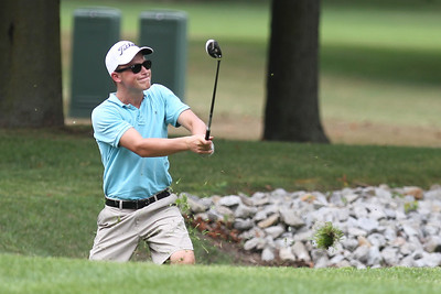 Mike Greene - mgreene@shawmedia.com Maxwell Bevill hits from a tough lie during the McHenry County Junior Golf Association's McHenry Open Monday, July 23, 2012 at the McHenry Country Club in McHenry. Bevill shot a 89 for the open, earning him a tie for sixth place in the Boys Junior Division.