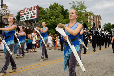 "Mike Greene - mgreene@shawmedia.com Members of the Legends Drum and Bugle Corps perform during the Annual Fiesta Days Parade Sunday, July 22, 2012 in McHenry. This year's theme for the event was ""Chambers 60th Diamond Anniversary"" with floats decorated to suit the theme."