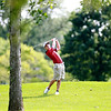 Andrew Sherman of St. Charles hits from the 15th fairway during the Illinois Junior Golf Association Jarvis Memorial Tournament at Cress Creek Country Club in Naperville Monday morning.