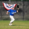 Jack Dennis of  St. Charles American Legion Post 342 makes a catch in right field during their game against Hampshire Post 680 at St. Charles North High School Tuesday.