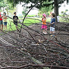 Jeff Krage – For Shaw Media<br /> Children gather inside the bird nest during Wild Saturday at Peck Farm Park in Geneva.<br /> Geneva 7/6/13