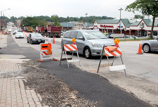 Road work continues for the Wilson Streetscape Project in Batavia Tuesday afternoon. A majority of the projected is expected to be completed by the end of the year.