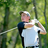 Brad Riva of St. Charles tees off during the second round of the IJGA-CDGA Junior Amateur tournament at Mill Creek Golf Course in Geneva Thursday morning.