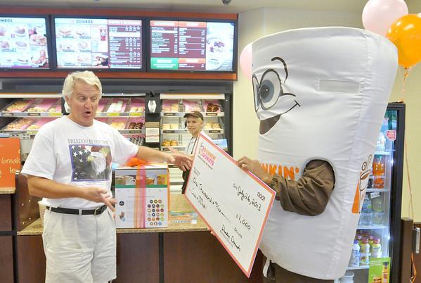 Donut customer big winner