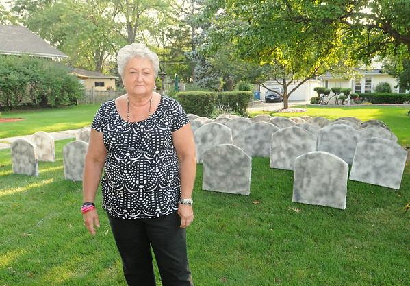 Traveling tombstones raise drug awareness