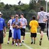 Jeff Krage – For Shaw Media<br /> Former NFL quarterback and 1979 St. Charles High School graduate Randy Wright has athletes run a drill during the Trickey-Wright QB/Receivers camp on Saturday at St. Charles North High School.<br /> St. Charles 7/19/14