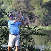 Jeff Krage – For Shaw Media<br /> Rich Balla watches his fourth tee shot during the final round of the St. Charles Men's Golf Tournament on Sunday at Pottawatomie Golf Course in St. Charles.<br /> St. Charles 7/27/14