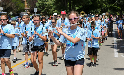 Mike Greene - For Shaw Media  Members of the Heineman Middle School Marching Band perform during the annual Crystal Lake Independence Day Parade Sunday, July 3, 2016 in Crystal Lake.