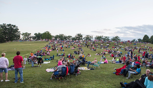 Mike Greene - For Shaw Media  A crowd gathers before the start of the annual Woodstock fireworks Monday, July 4, 2016 at Emricson Park in Woodstock.