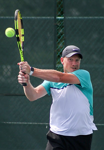Mike Greene - For Shaw Media  John Cincola during Men's Open Singles championship match against Sam Sweeney in the McHenry County Tennis Classic Sunday, July 10, 2016 at The Racket Club in Algonquin. Cincola won the match 6-2, 7-5.