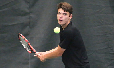 Mike Greene - For Shaw Media  Nick Thome during the Boys' 18 Singles championship match agaisnt Hayden Dzurisin in the McHenry County Tennis Classic Sunday, July 10, 2016 at The Racket Club in Algonquin. Dzurisin won the match 7-6, 6-0.